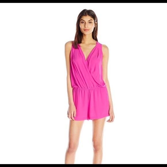 e77d9fbb8f5c BCBGMaxAzria Tops - BCBG Maxazria Thalia Romper Medium Fuschia Pink